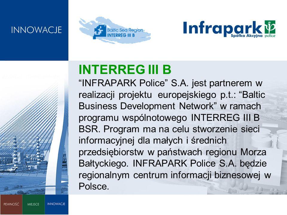 INTERREG III B INFRAPARK Police S. A