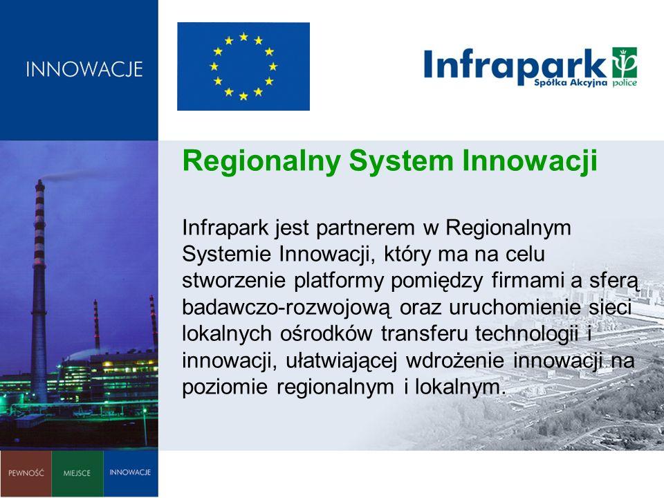 Regionalny System Innowacji Infrapark jest partnerem w Regionalnym Systemie Innowacji, który ma na celu stworzenie platformy pomiędzy firmami a sferą badawczo-rozwojową oraz uruchomienie sieci lokalnych ośrodków transferu technologii i innowacji, ułatwiającej wdrożenie innowacji na poziomie regionalnym i lokalnym.