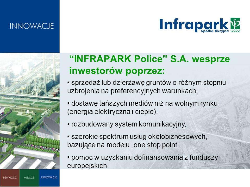 INFRAPARK Police S.A. wesprze inwestorów poprzez: