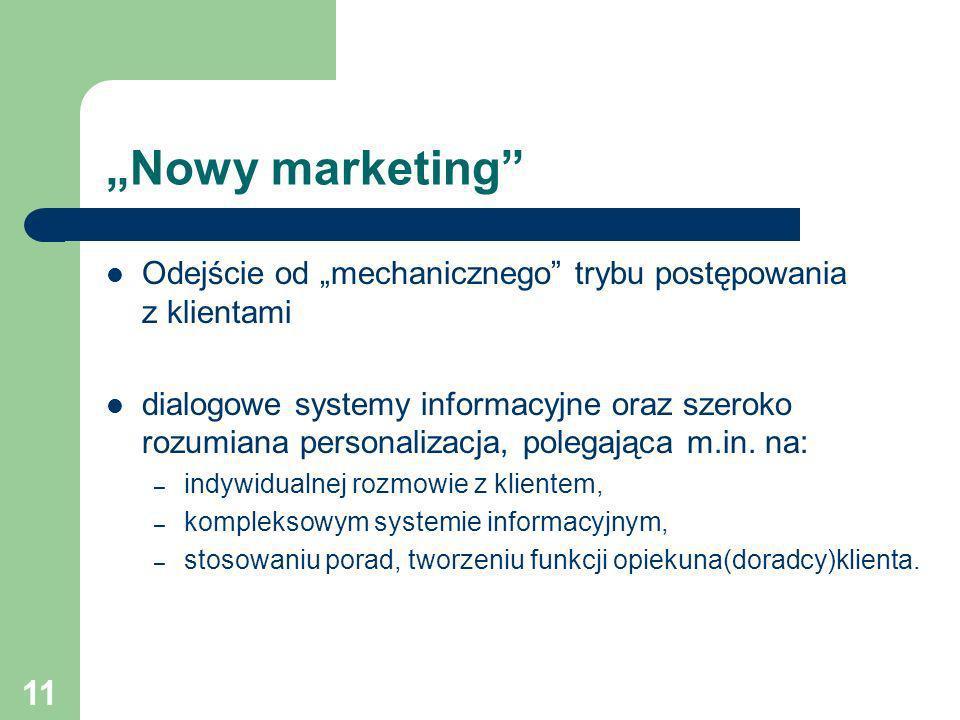 """""""Nowy marketing Odejście od """"mechanicznego trybu postępowania z klientami."""