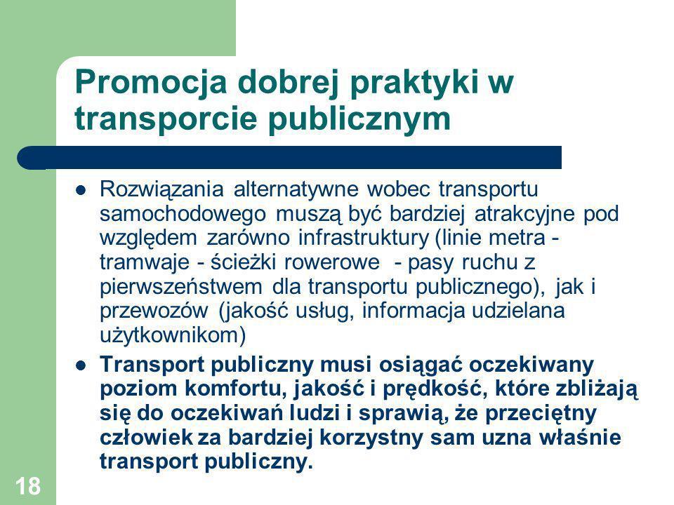 Promocja dobrej praktyki w transporcie publicznym