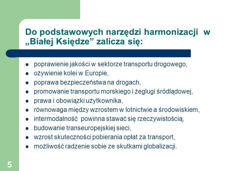 """Do podstawowych narzędzi harmonizacji w """"Białej Księdze zalicza się:"""