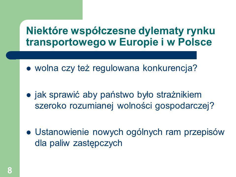 Niektóre współczesne dylematy rynku transportowego w Europie i w Polsce