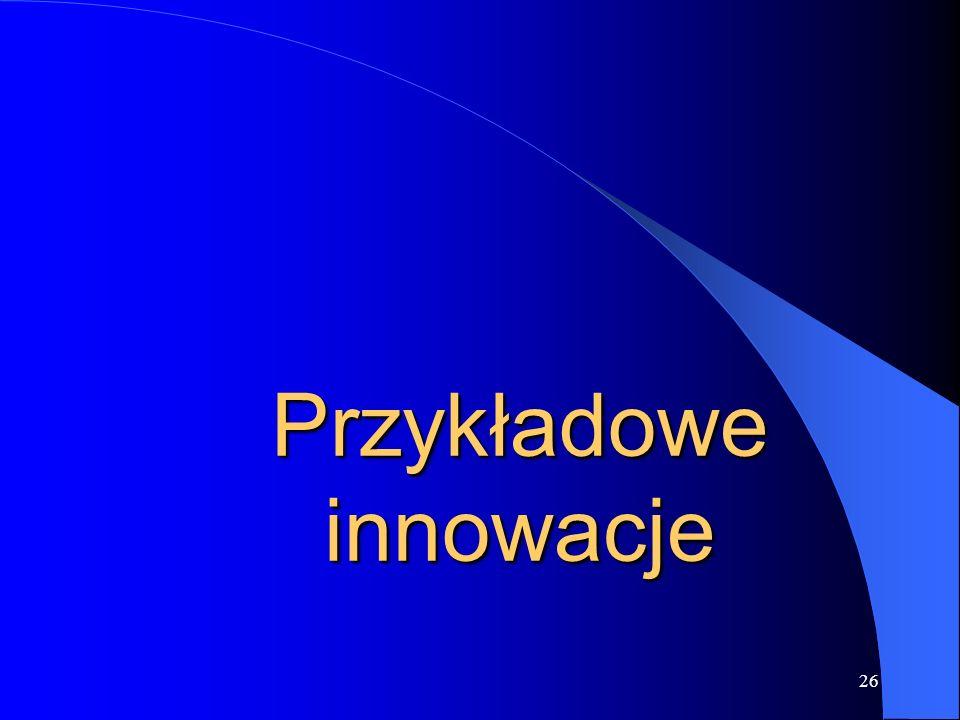 Przykładowe innowacje