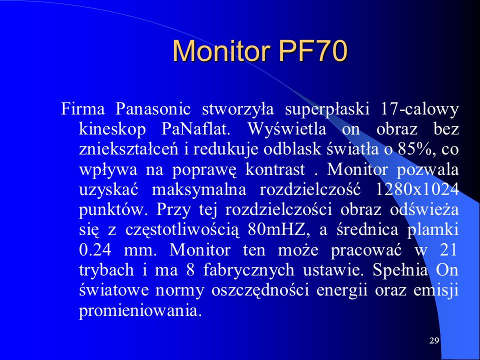 Monitor PF70