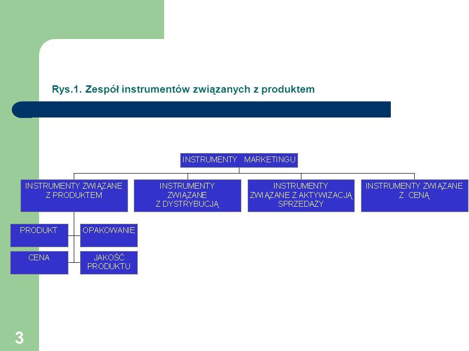 Rys.1. Zespół instrumentów związanych z produktem