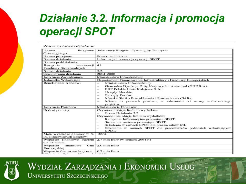 Działanie 3.2. Informacja i promocja operacji SPOT