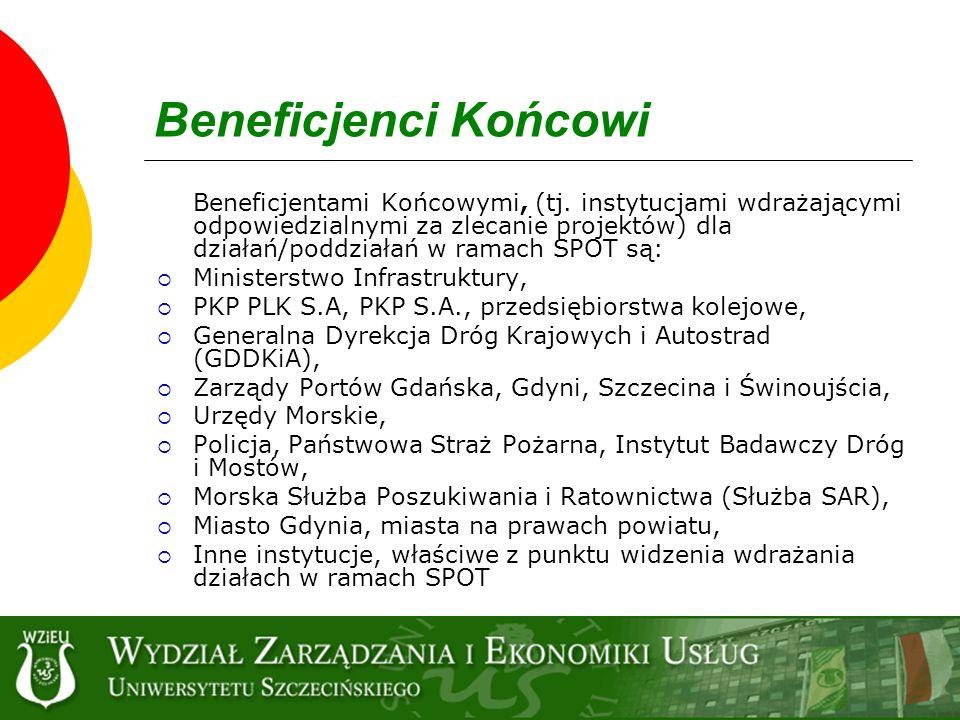 Beneficjenci Końcowi Ministerstwo Infrastruktury,