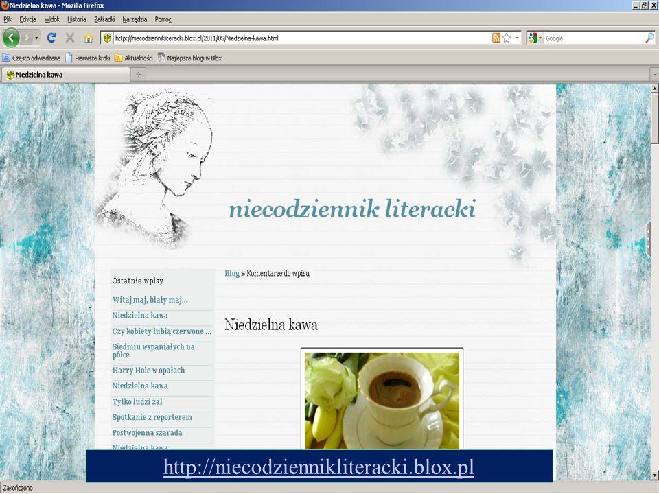 http://niecodziennikliteracki.blox.pl