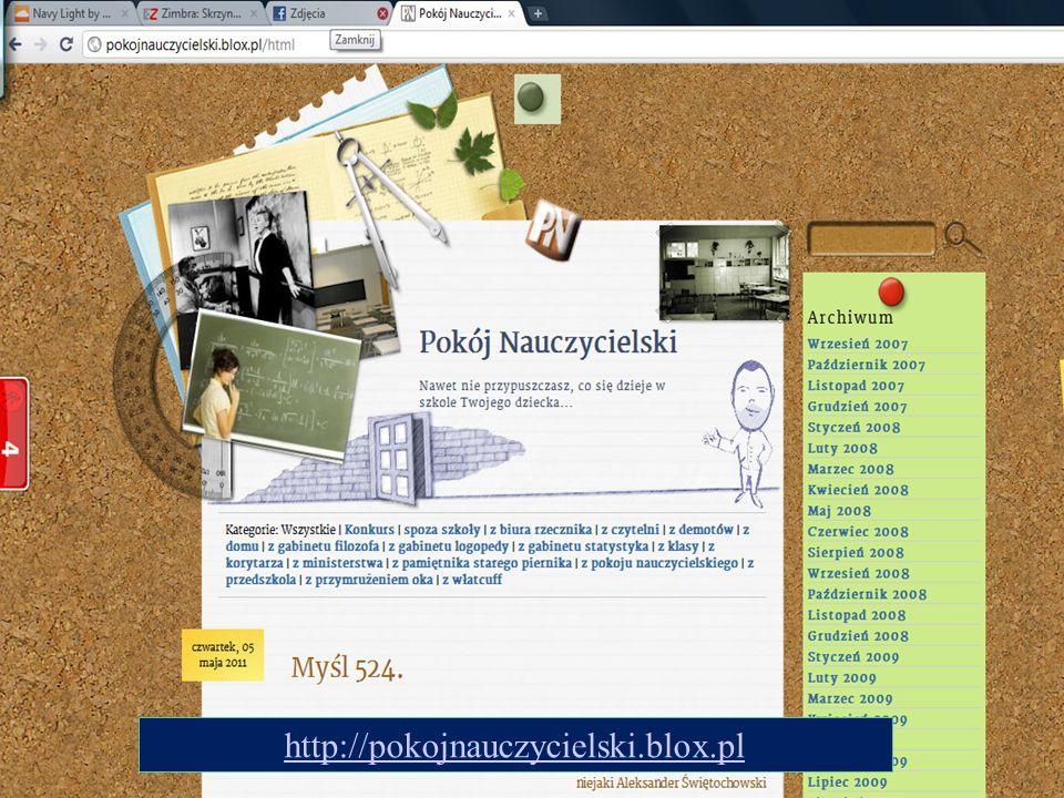 http://pokojnauczycielski.blox.pl