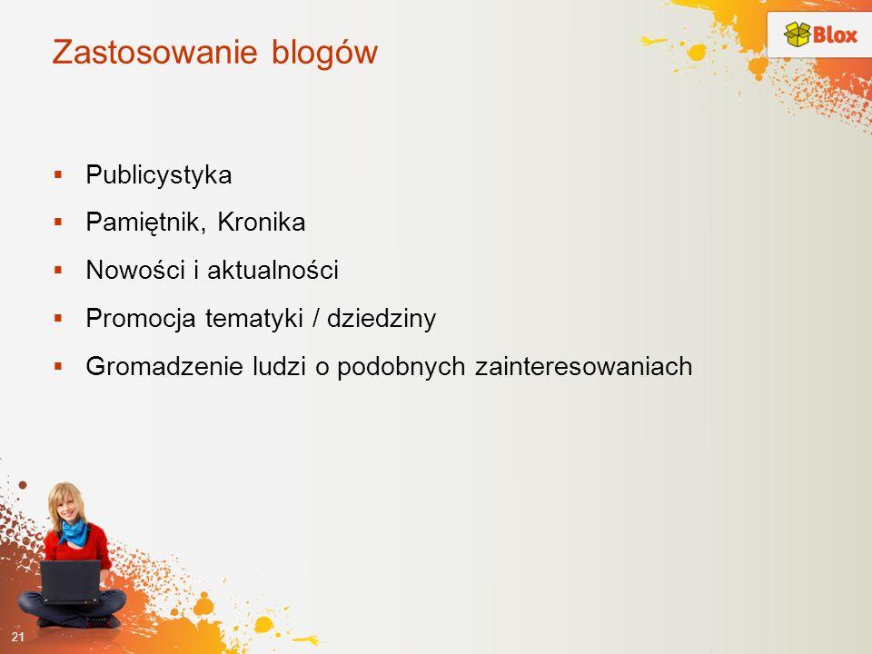 Zastosowanie blogów Publicystyka Pamiętnik, Kronika