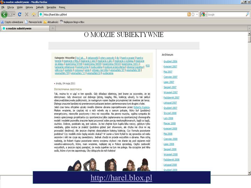 Blog o modzie - harel http://harel.blox.pl