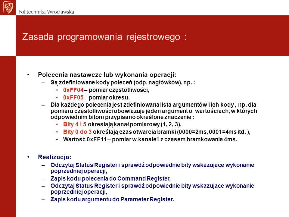 Zasada programowania rejestrowego :