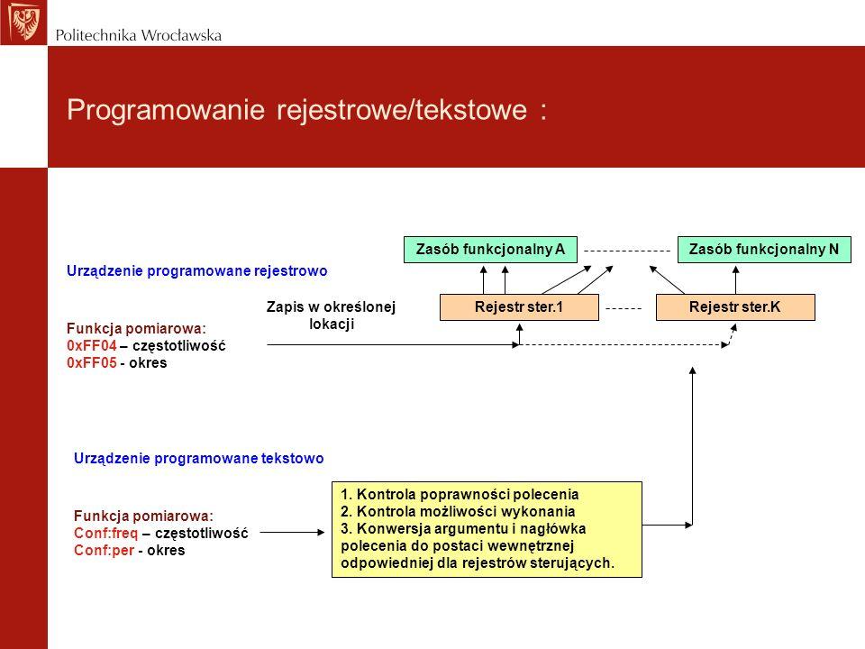 Programowanie rejestrowe/tekstowe :