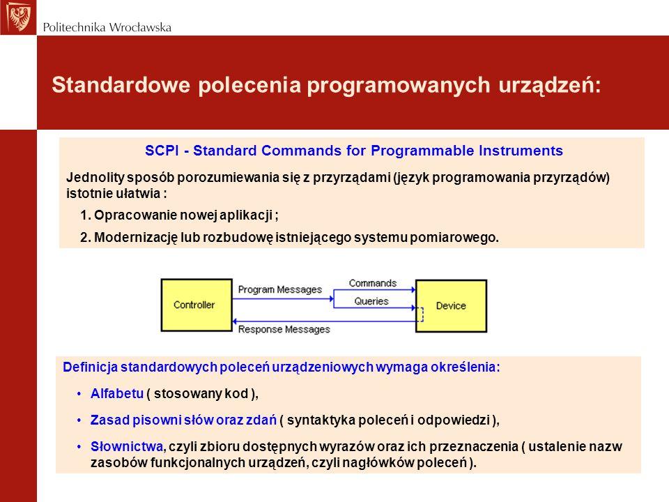 Standardowe polecenia programowanych urządzeń: