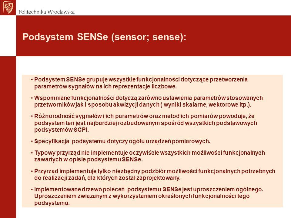 Podsystem SENSe (sensor; sense):