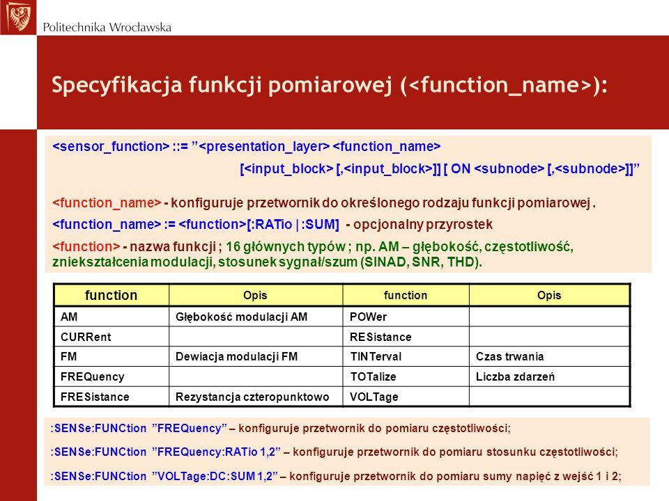 Specyfikacja funkcji pomiarowej (<function_name>):