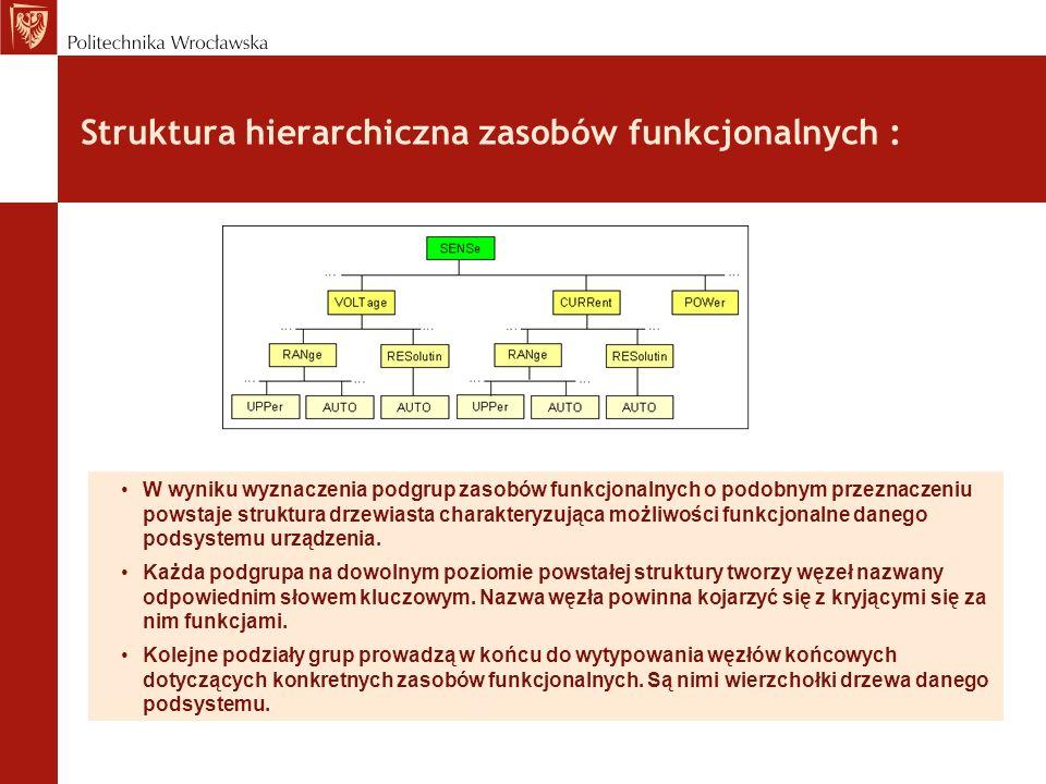 Struktura hierarchiczna zasobów funkcjonalnych :