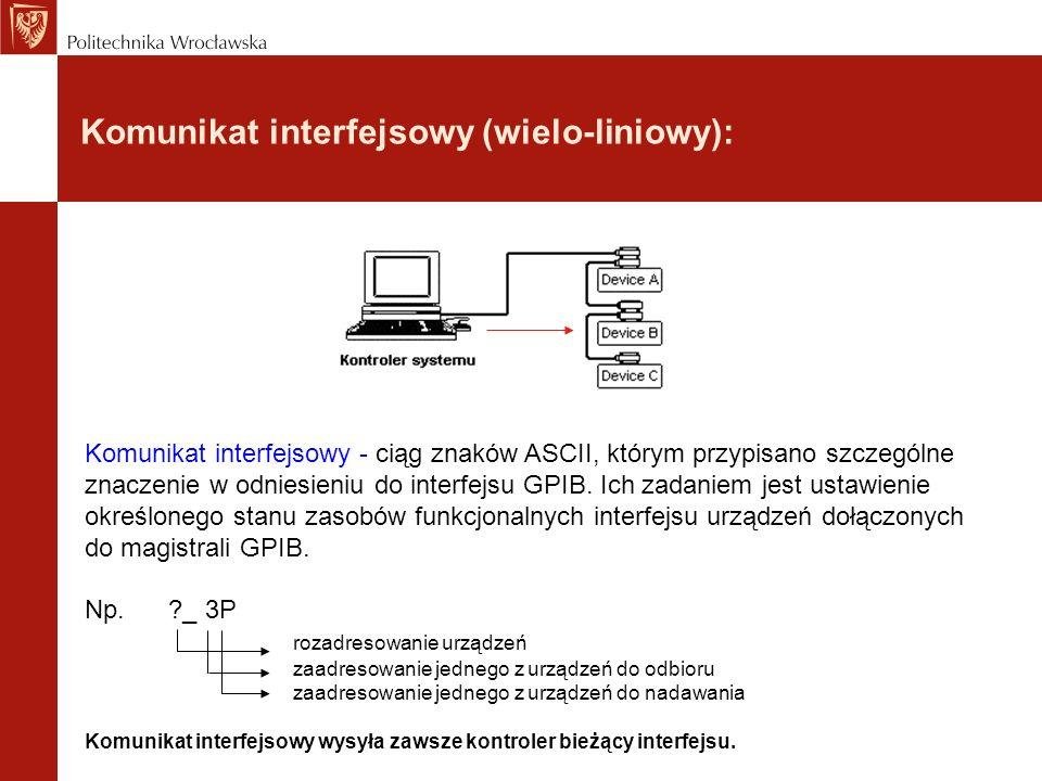 Komunikat interfejsowy (wielo-liniowy):