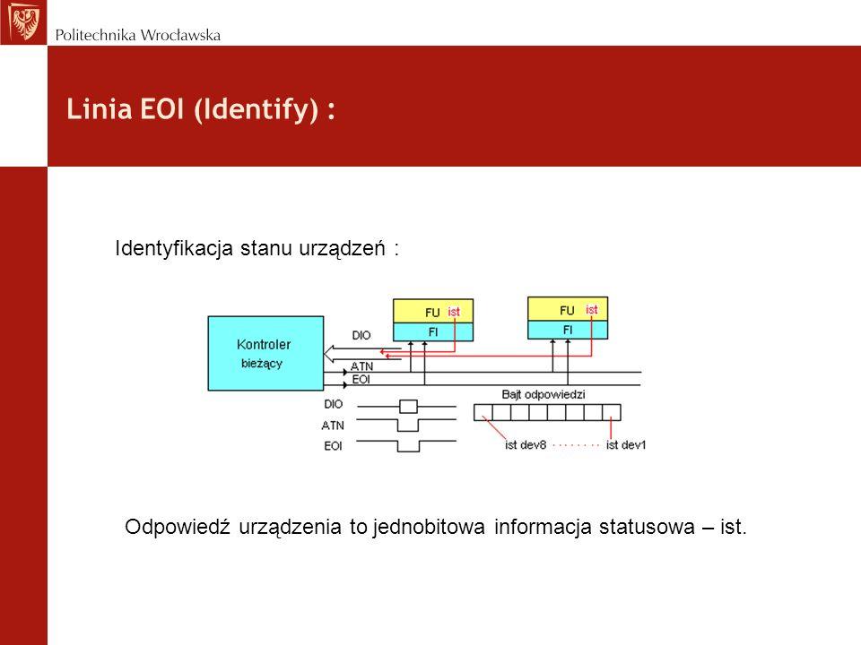 Linia EOI (Identify) : Identyfikacja stanu urządzeń :