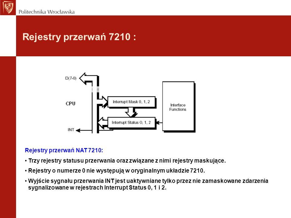 Rejestry przerwań 7210 : Rejestry przerwań NAT 7210: