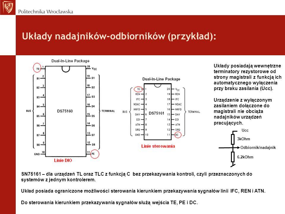 Układy nadajników-odbiorników (przykład):