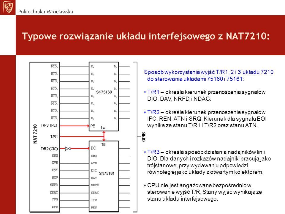 Typowe rozwiązanie układu interfejsowego z NAT7210: