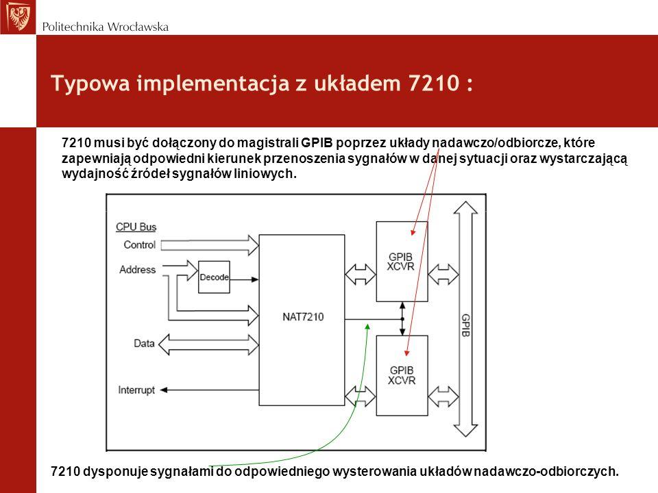 Typowa implementacja z układem 7210 :