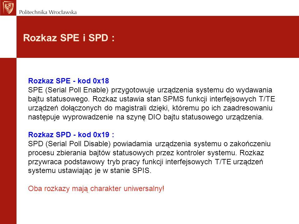 Rozkaz SPE i SPD :