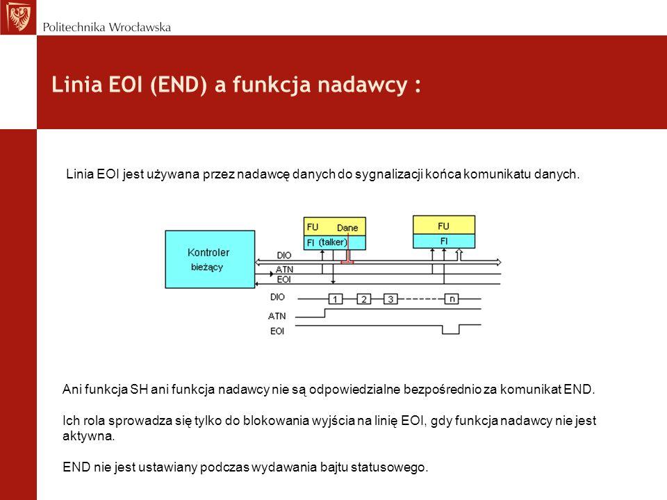 Linia EOI (END) a funkcja nadawcy :