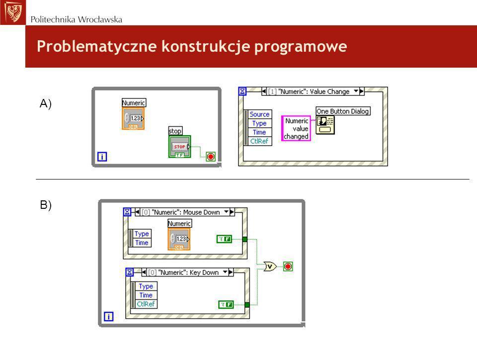 Problematyczne konstrukcje programowe