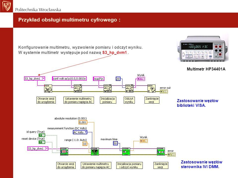 Przykład obsługi multimetru cyfrowego :