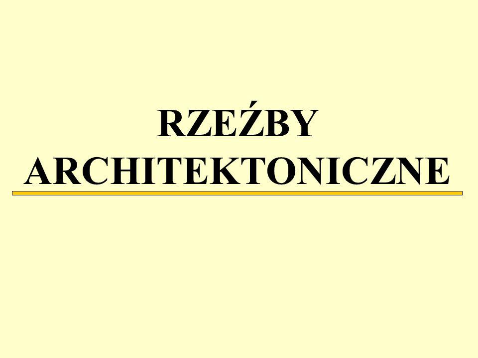 RZEŹBY ARCHITEKTONICZNE