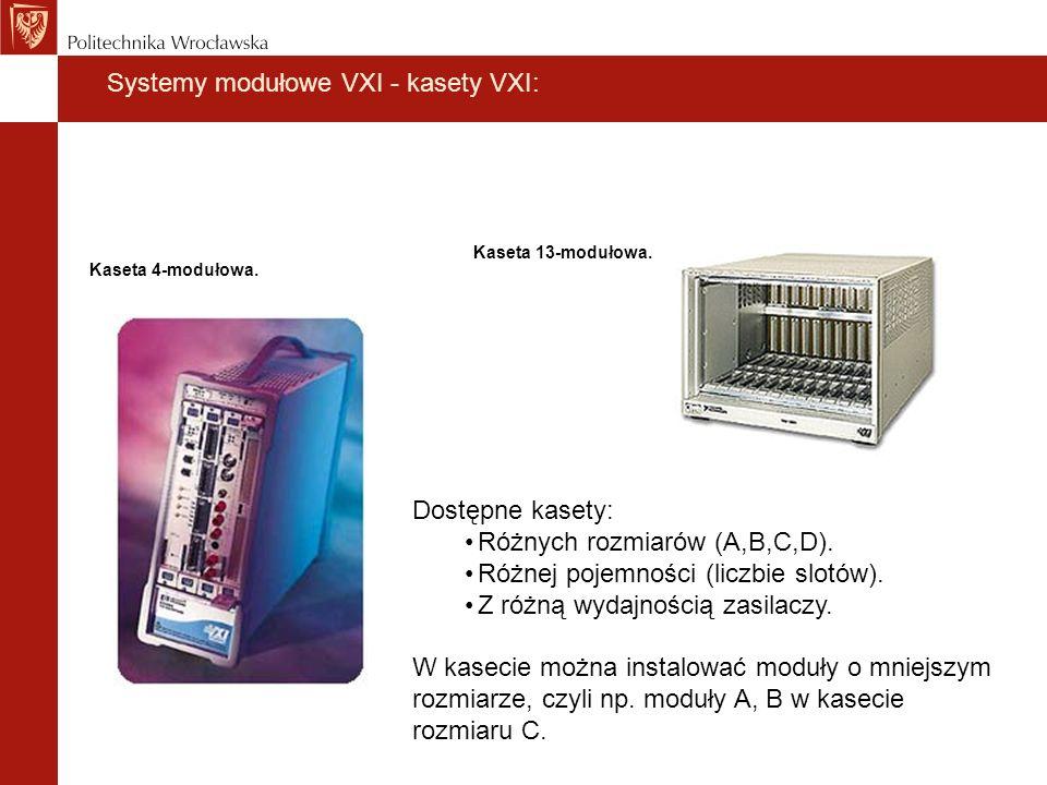 Systemy modułowe VXI - kasety VXI:
