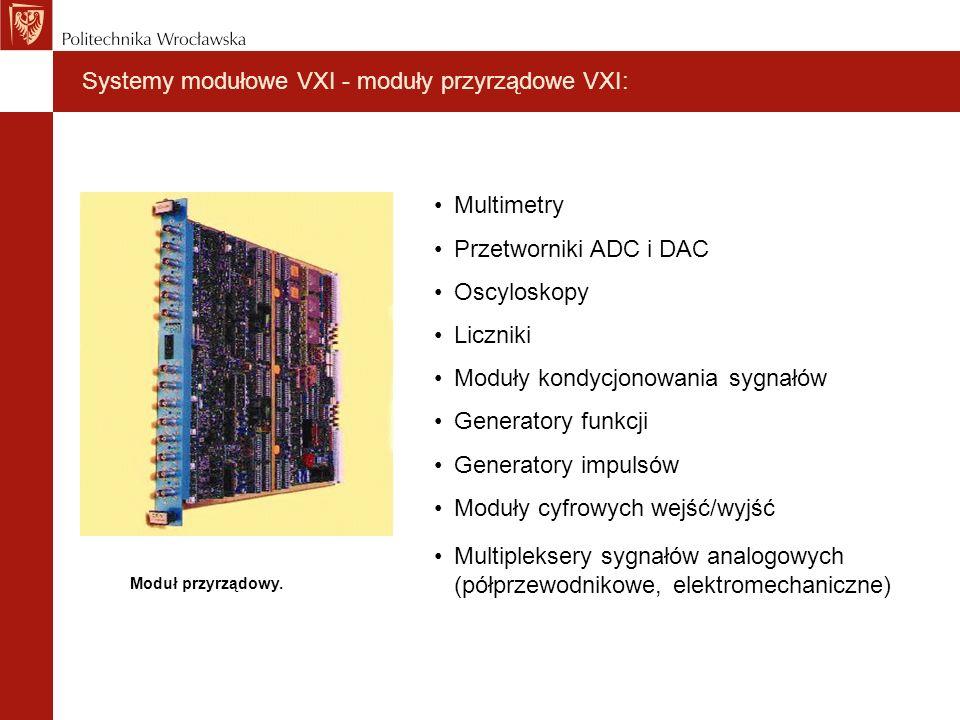 Systemy modułowe VXI - moduły przyrządowe VXI: