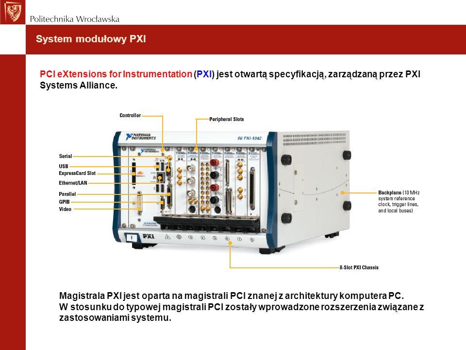 System modułowy PXI PCI eXtensions for Instrumentation (PXI) jest otwartą specyfikacją, zarządzaną przez PXI Systems Alliance.