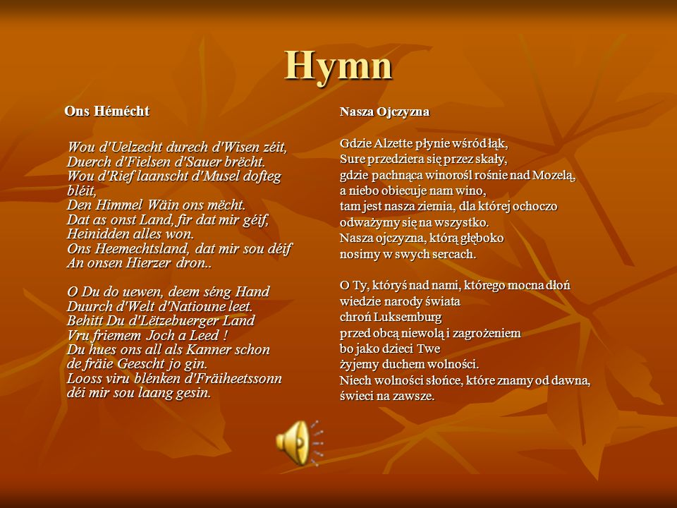 HymnOns Hémécht.