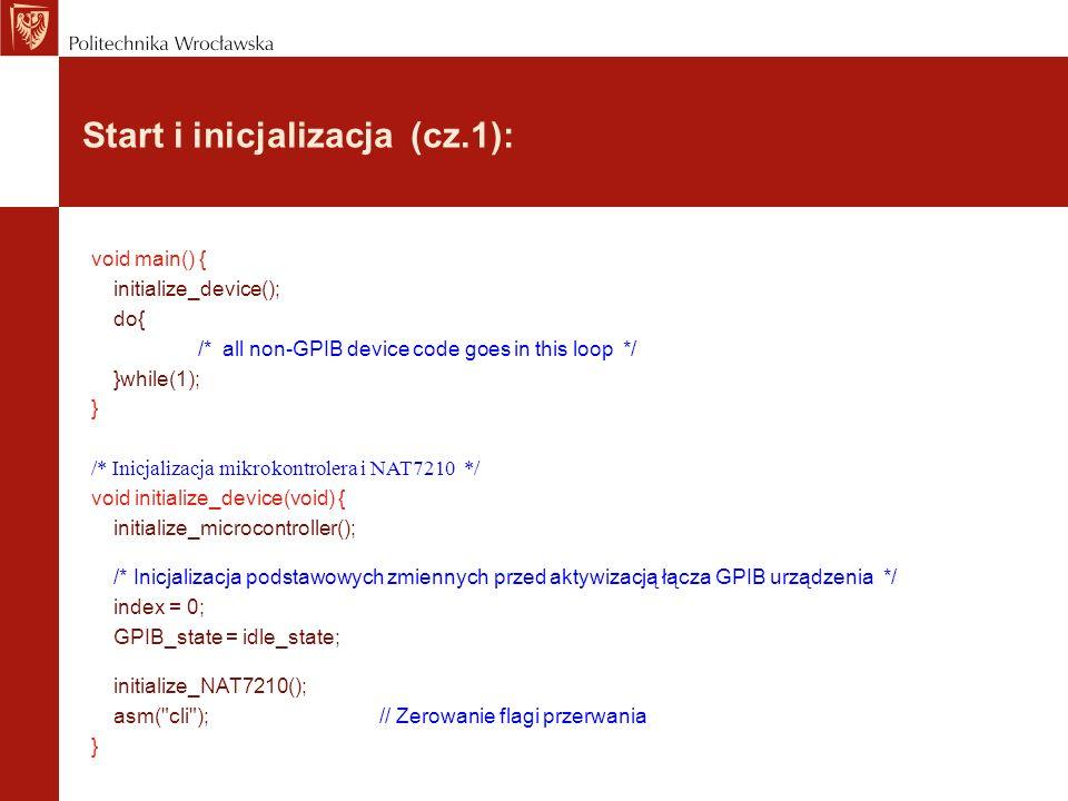 Start i inicjalizacja (cz.1):