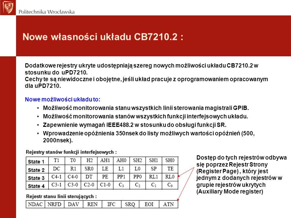 Nowe własności układu CB7210.2 :
