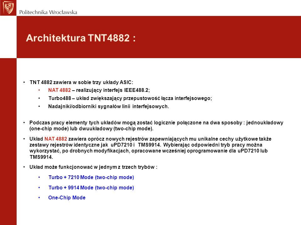 Architektura TNT4882 : TNT 4882 zawiera w sobie trzy układy ASIC: