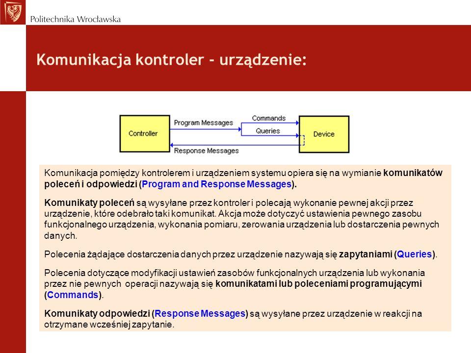 Komunikacja kontroler - urządzenie: