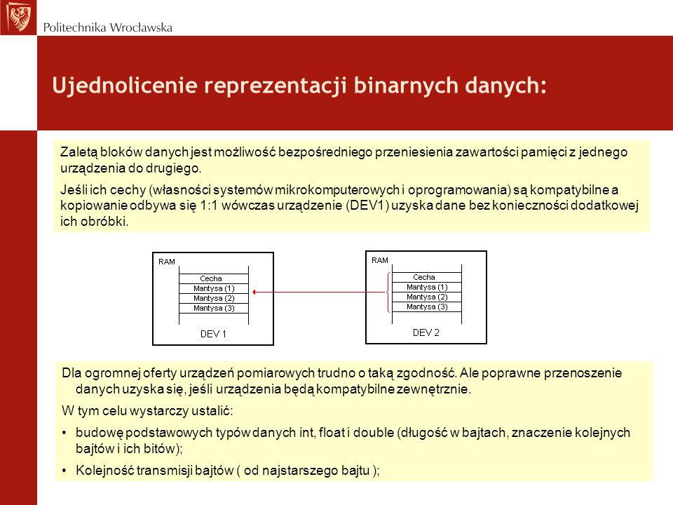Ujednolicenie reprezentacji binarnych danych: