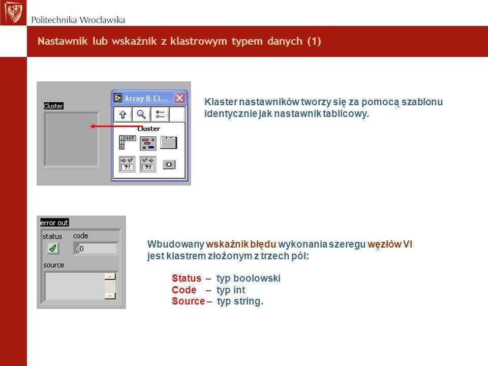 Nastawnik lub wskaźnik z klastrowym typem danych (1)