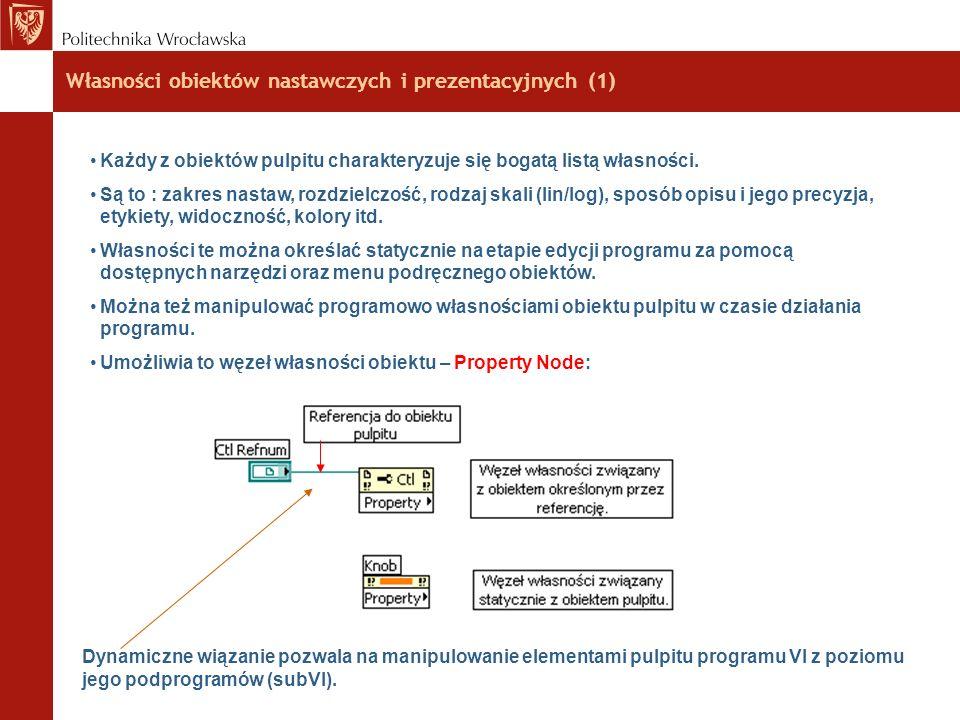 Własności obiektów nastawczych i prezentacyjnych (1)