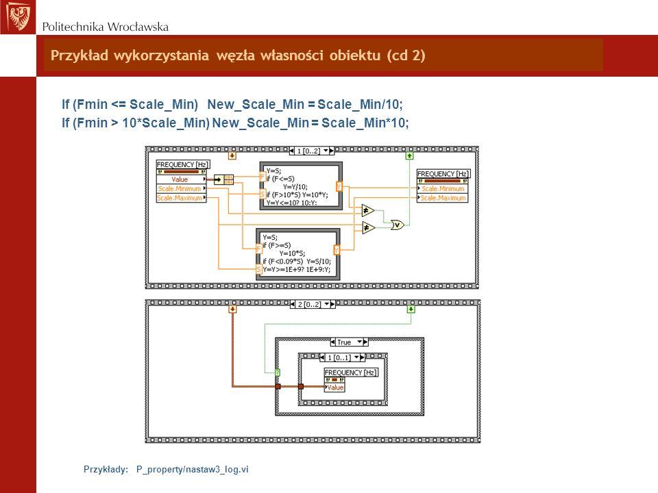 Przykład wykorzystania węzła własności obiektu (cd 2)