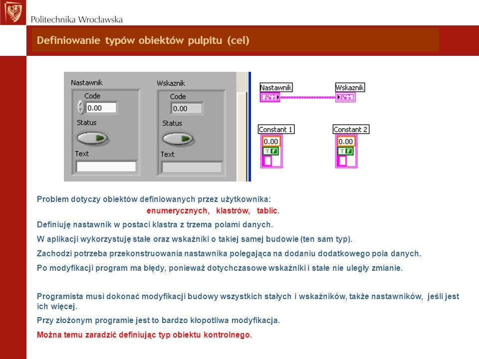 Definiowanie typów obiektów pulpitu (cel)