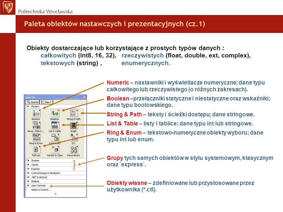 Paleta obiektów nastawczych i prezentacyjnych (cz.1)