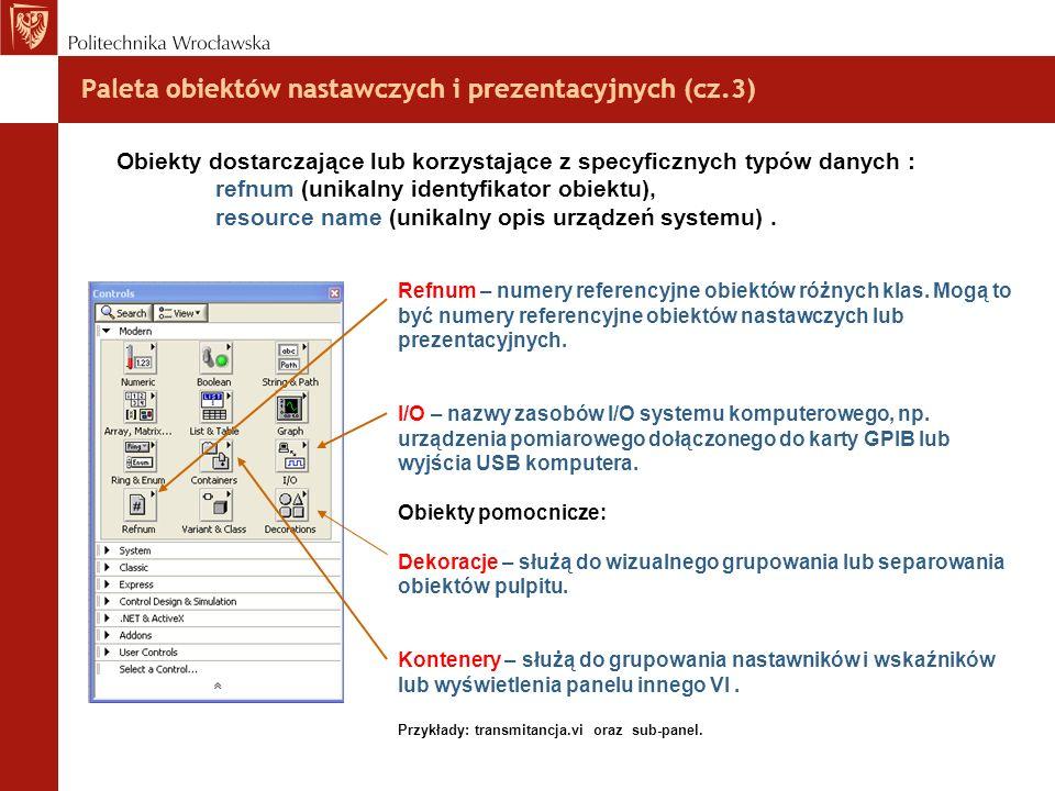 Paleta obiektów nastawczych i prezentacyjnych (cz.3)