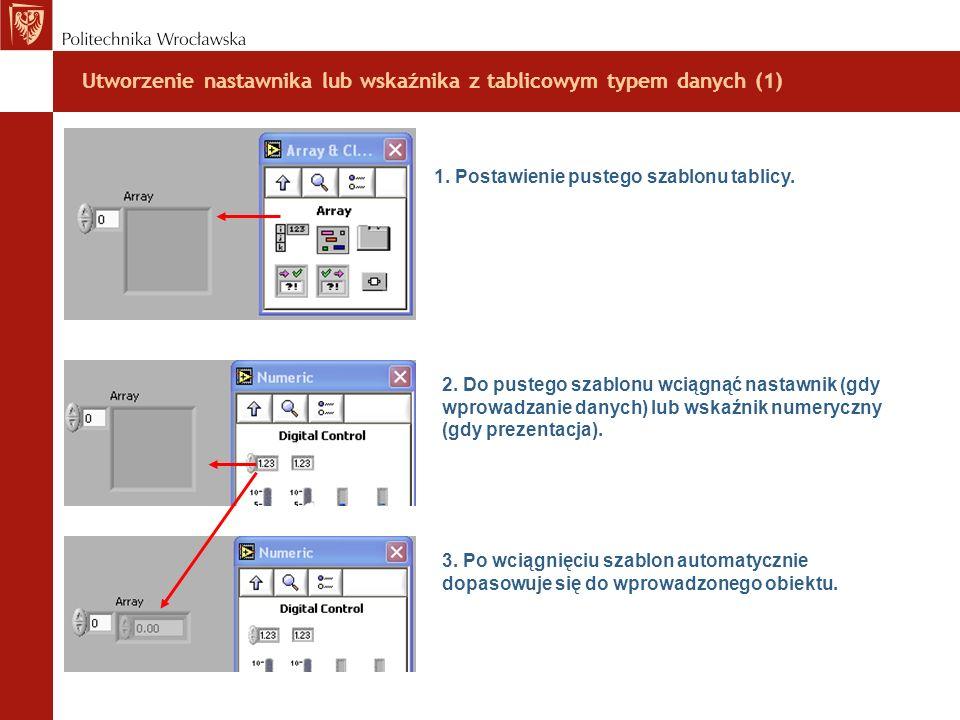 Utworzenie nastawnika lub wskaźnika z tablicowym typem danych (1)
