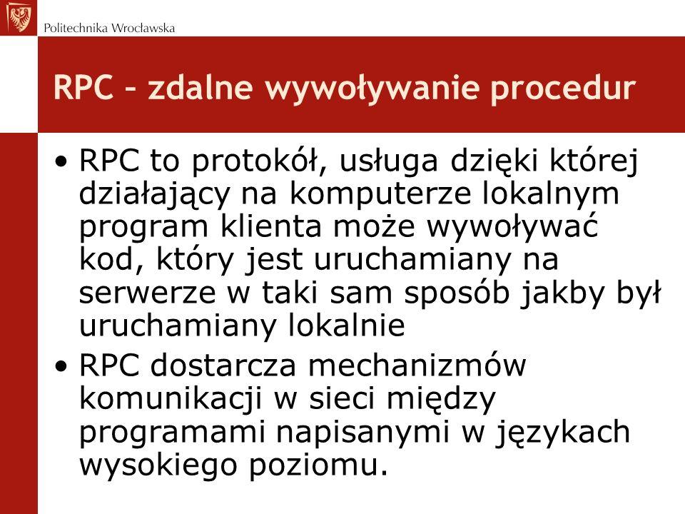 RPC – zdalne wywoływanie procedur